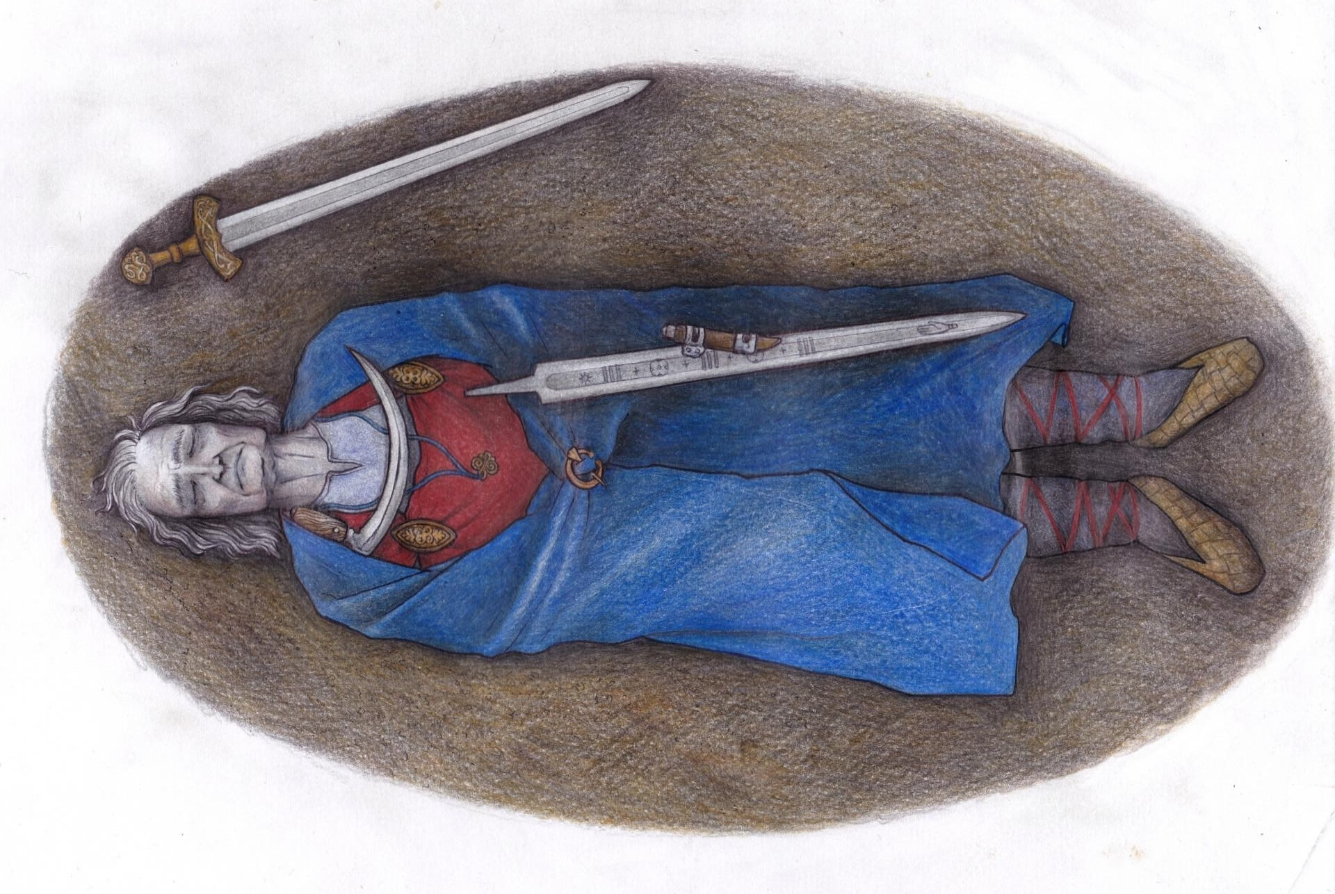 Finlande - Reconstitution de la tombe de Suontaka - Illustration: Veronika Paschenko
