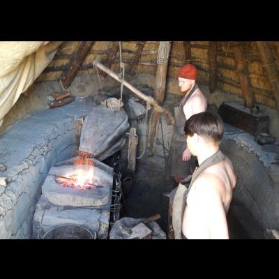 Forge dans une maison fosse à Ribe au Danemark - Photo: Joelle Delacroix