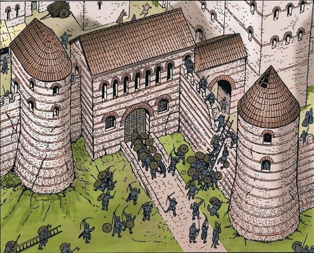 France - Trois raids vikings sur la ville du Mans conté dans le tome 4 de la série BD: