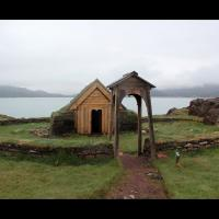 La chapelle Sainte-Thjodhild (þjóðhildarkirkja) à Qassiarsuk, Groenland