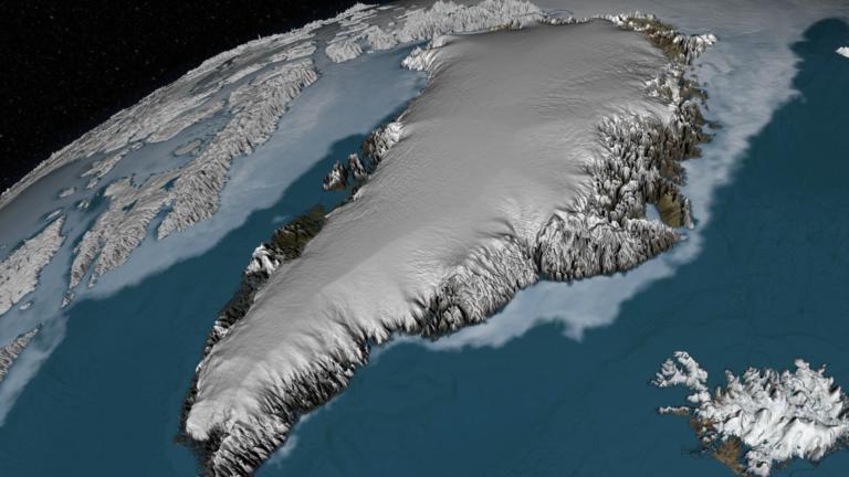 Groenland - La calotte glaciaire du Groenland - Image: NASA