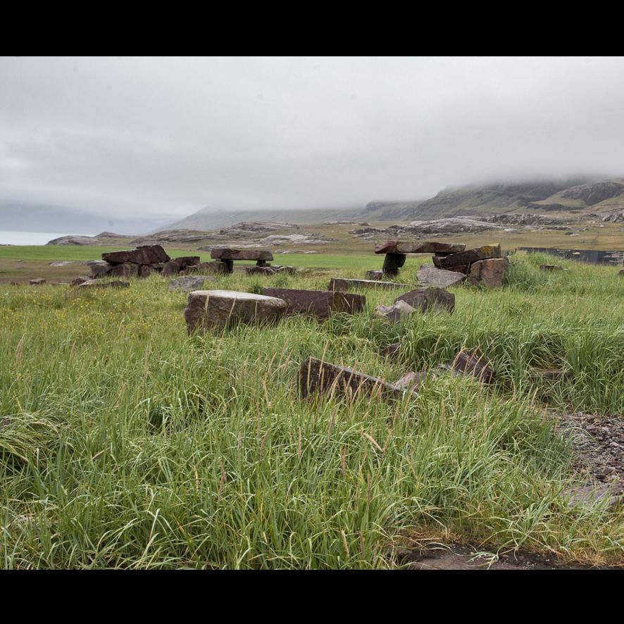 Les ruines deGarðar à Igaliku, Groenland