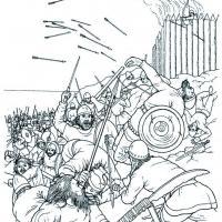 Guerriers vikings Leif Erikson découvre l'Amérique du Nord