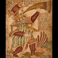 Heimdallr sonnant du cor - Illustration: Ólafur Brynjúlfsson