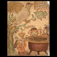 Loki, Odin et Hoenir-  Illustration extraite de l'Edda de Snorri Sturluson (XIIIème siècle)