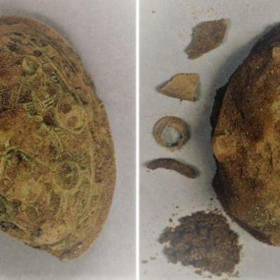 Île de Man - La paire de fibules tortues de l'Âge Viking découvertes par des détectoristes en 2018 - Photo : Manx National Heritage