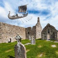 Irlande - Le bateau fantôme de Clonmacnoise - Photo-montage : Idavoll