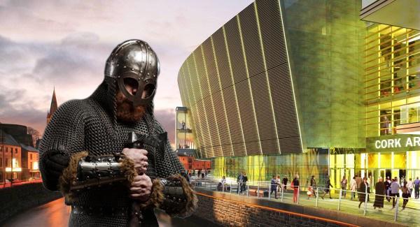 Irlande - Le projet de construction du Centre culturel de Cork menacé par les Vikings pour un poisson d'Avril - Montage photo Idavoll