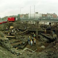 Le site de fouilles de Wood Quay - Photo Eamonn Farrell/ photocall ireland