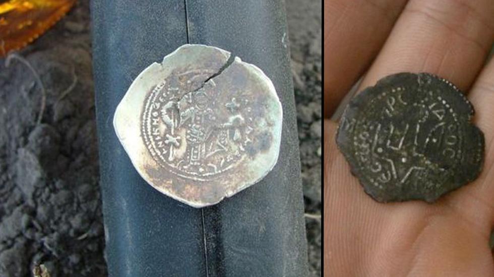 Irlande - Pièces de la Russie kiévienne du Xème siècle découvertes à Glanmire - Photo: Robert Carley