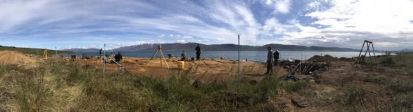 Le chantier de fouilles de Dysnes - Photo: Hildur Gestsdóttir