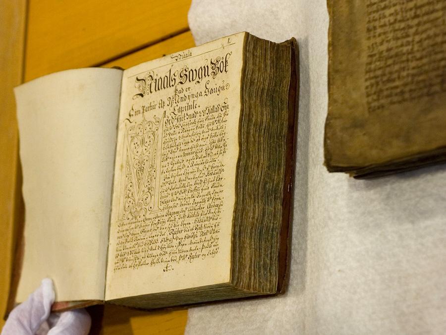 Islande - La Saga de Njáll le Brûlé, un manuscrit du XIIIème siècle de la Collection arnamagnéenne réclamé par l'Islande- Photo Arnamagnæan Institute