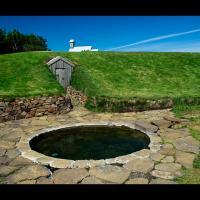 "Snorralaug, la ""piscine de Snorri"" à Reykholt, Islande"