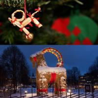 Julbock et bouc de Gävle