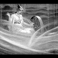 La déesse Frigg filant les nuages - Illustration: John Charles Dollman