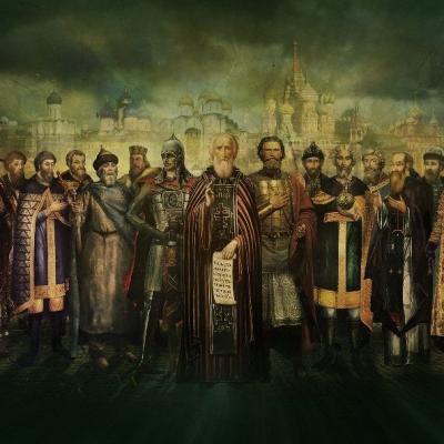 Une illustration de la dynastie des Riourikides conçue pour l'exposition