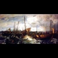 La victoire d'Éric Håkonsson à la bataille de Svolder - Peintre: Otto Sinding