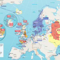 Le monde viking - Carte: L'Histoire.fr