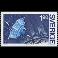 Le timbre suédois édité en 1984 pour le projet Viking satellite