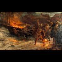 Les funérailles d'un Viking - Peinture: Frank Dicksee