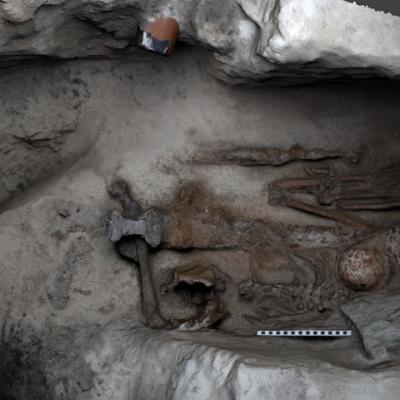 Les Orcades - Modélisation 3D de l'une des tombes de l'Âge Viking sur l'île de Papa Westray - Photo: AOC Archeology