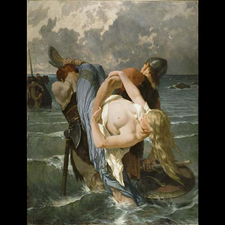 Les pilleurs normands au IXème siècle par Évariste-Vital Luminais (1895)