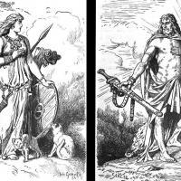 Les Vanes, Freyja et Freyr - Ilustrations: Johannes Gehrts