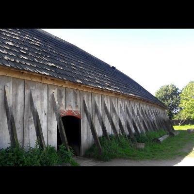 Une maison longue à Ribe, Danemark - Photo: Joëlle Delacroix