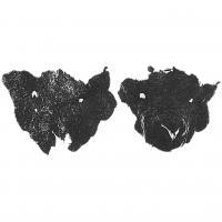 Masque de chien ou de mouton, vue à plat, puis mis en forme, découvert à Hedeby