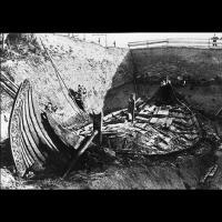 Bateau tombe d'Oseberg, découvert en 1904, Vestfold, Norvège