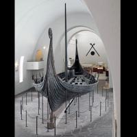 Navire d'Oseberg, au Musée des bateaux vikings, Oslo, Norvège