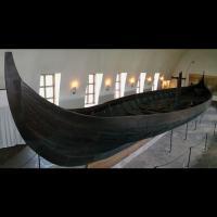 Navire de Gokstad, au Musée des bateaux vikings, Oslo, Norvège