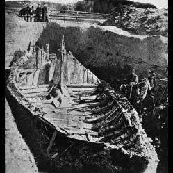 Navire de Gokstad en1880, Sandefjord, Norvège