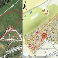 Norvège - 15 tertres funéraires, 32 mystérieux fossés et 1257 fosses découverts sur un site de l'Âge Viking à Bodø - Illustration: NTNU Vitenskapsmuseet et NRK
