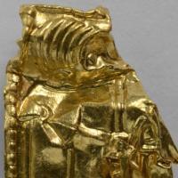 Amulette mérovingienne découverte à Aaker - Photo par le musée d'Histoire culturelle