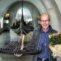 Carl Olav Staff a trouvé le poids du bateau d'Oseberg à 6kg près - Photo: Lill Ann Chepstow Lusty
