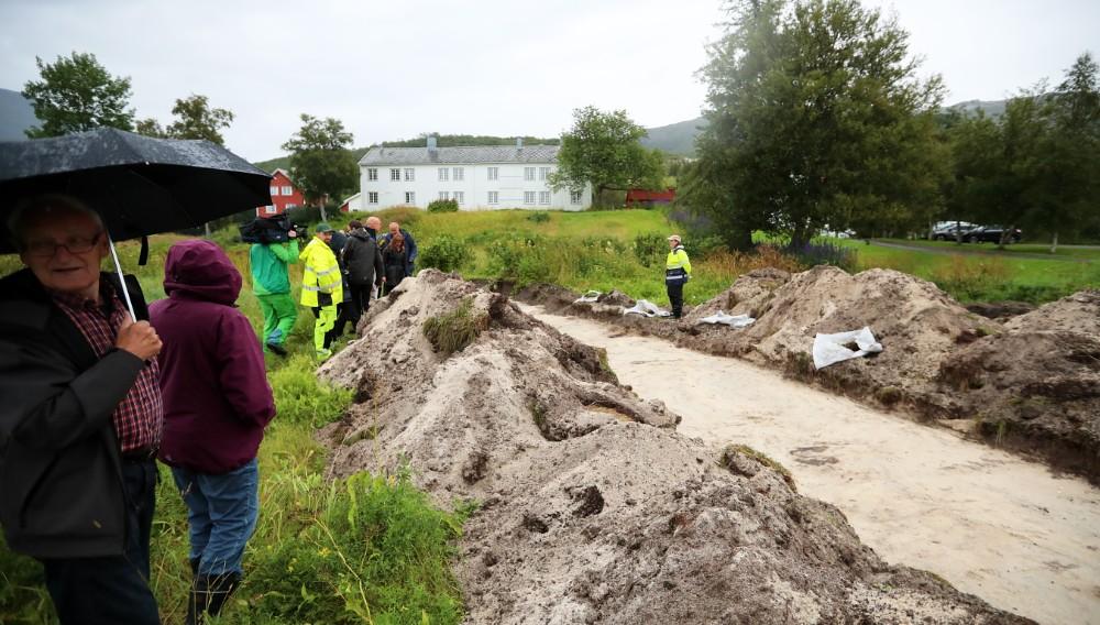 Découverte de vestiges d'une maison longue à  Gildeskål - Photo Ole Dalen pour NRK