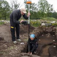 Découverte de l'emplacement de 4 halles vikings à Borre grâce au géoradar - Photo: Tom Arild Dahl