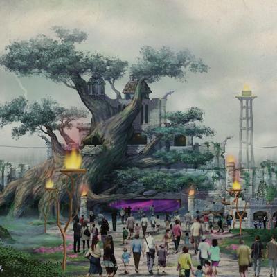 Entrée principale du parc d'attraction
