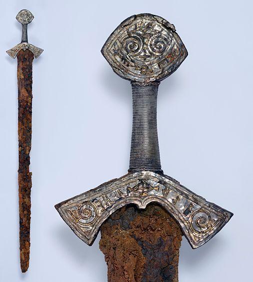 L'épée de Langeid restaurée - photo Vegard Vike pour KHM