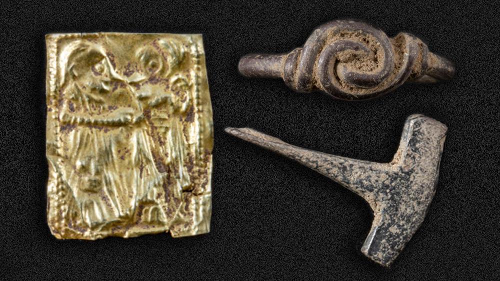Norvège - La découverte d'une amulette en or dans le Vestfold indique la présence d'un site majeur de l'Âge Viking - Photo: Comté du Vestfold