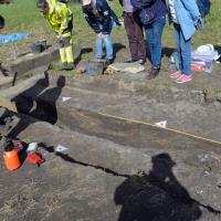 Norvège - La quille en bon état du navire de Gjellestad mise au jour par les archéologues - Photo: Fredrik Nordland, comté d'Østfold