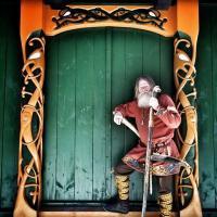 Le chef viking Georg Olafur Reydarsson Hansen à Njardarheimr