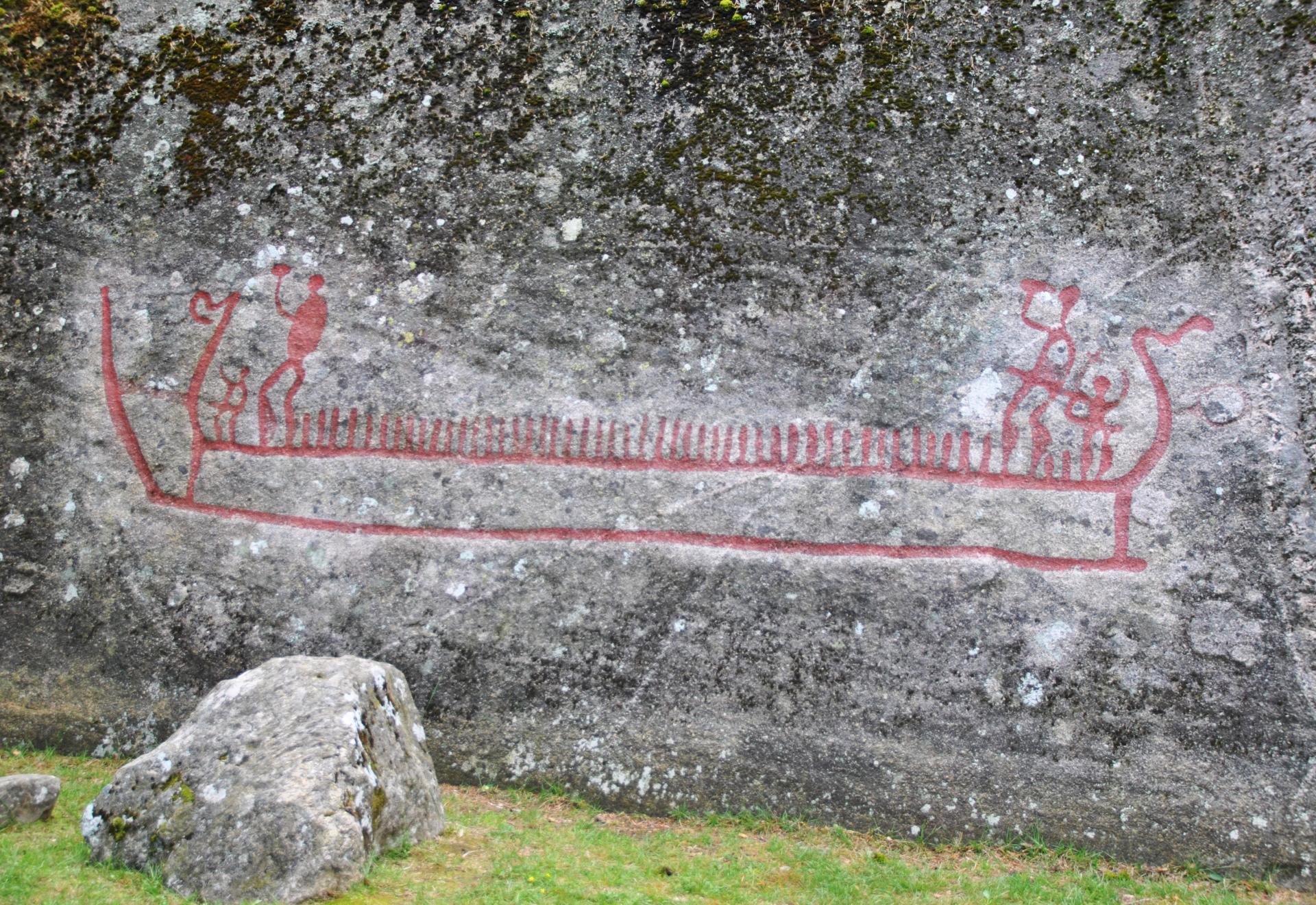 Norvège - Le navire de Bjørnstad est la plus grande gravure rupestre en Scandinavie - Photo: Thomas M. Hansen