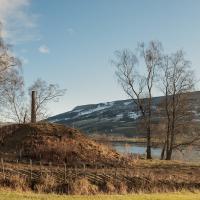 Norvège - Le tertre funéraire d'Olaf à Hundorp, dans la vallée de Gudbrand - Photo: Sigurd Rage