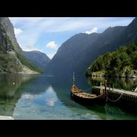 Le village viking Njardarheimr à Gudvangen, Norvège