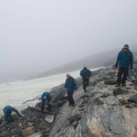 Norvège - Les archéologues des glaciers à la recherche d'artefacts le long de la plaque de glace de Lendbreen en 2011 - Photo: Secrets of the Ice