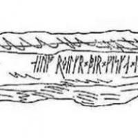 Transcription de la pierre runique de Lie, en Norvège, disparue au XIXème siècle au sujet de Elifir Elg