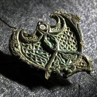 Un bijou viking issu des raids en Angleterre - Photo Åge Hojem/NTNU Vitenskapsmuseet