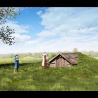 Norvège - Une maison mortuaire reconstituée d'après la découverte archéologique à Vinjeøra - Photo: Raymond Sauvage / NTNU